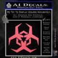 Futuristic Biohazard Decal Sticker D2 Pink Emblem 120x120