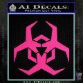 Futuristic Biohazard Decal Sticker D2 Pink Hot Vinyl 120x120