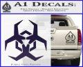 Futuristic Biohazard Decal Sticker D2 PurpleEmblem Logo 120x97