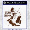GI Joe Retaliation Storm Shadow Ninja Decal Sticker BROWN Vinyl 120x120