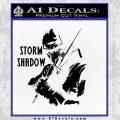 GI Joe Retaliation Storm Shadow Ninja Decal Sticker Black Vinyl 120x120