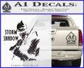 GI Joe Retaliation Storm Shadow Ninja Decal Sticker Carbon FIber Black Vinyl 120x97
