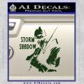 GI Joe Retaliation Storm Shadow Ninja Decal Sticker Dark Green Vinyl 120x120