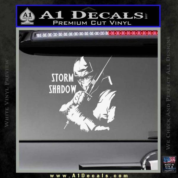 GI Joe Retaliation Storm Shadow Ninja Decal Sticker Gloss White Vinyl