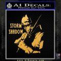 GI Joe Retaliation Storm Shadow Ninja Decal Sticker Gold Vinyl 120x120