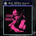 GI Joe Retaliation Storm Shadow Ninja Decal Sticker Pink Hot Vinyl 120x120