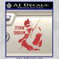 GI Joe Retaliation Storm Shadow Ninja Decal Sticker Red 120x120