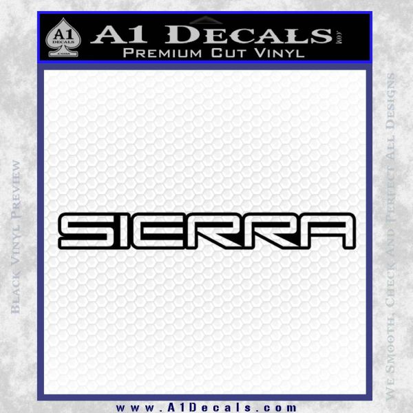 GMC SIERRA Decal Sticker Black Vinyl