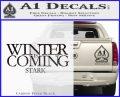 Game Of Thrones Decal Sticker Winter Is Coming Carbon FIber Black Vinyl 120x97