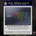 Game Of Thrones Decal Sticker Winter Is Coming Glitter Sparkle 120x120