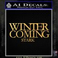 Game Of Thrones Decal Sticker Winter Is Coming Gold Vinyl 120x120