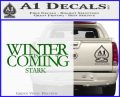 Game Of Thrones Decal Sticker Winter Is Coming Green Vinyl Logo 120x97