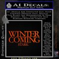 Game Of Thrones Decal Sticker Winter Is Coming Orange Emblem 120x120