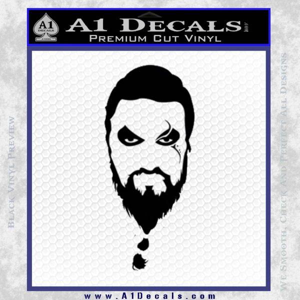 Game Of Thrones Khal Drogo Decal Sticker Black Vinyl
