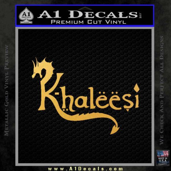 Game Of Thrones Khaleesi Targaryen D1 Decal Sticker Gold Vinyl