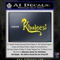 Game Of Thrones Khaleesi Targaryen D1 Decal Sticker Yellow Laptop 120x120