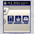 Gas Grass or Ass Decal Sticker Blue Vinyl 120x120