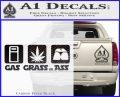 Gas Grass or Ass Decal Sticker Carbon FIber Black Vinyl 120x97