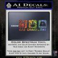 Gas Grass or Ass Decal Sticker Glitter Sparkle 120x120