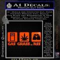 Gas Grass or Ass Decal Sticker Orange Emblem 120x120