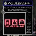 Gas Grass or Ass Decal Sticker Pink Emblem 120x120