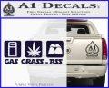 Gas Grass or Ass Decal Sticker PurpleEmblem Logo 120x97