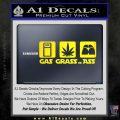 Gas Grass or Ass Decal Sticker Yellow Laptop 120x120