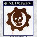 Gears of War Decal Sticker logo BROWN Vinyl 120x120
