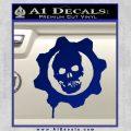 Gears of War Decal Sticker logo Blue Vinyl 120x120