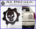 Gears of War Decal Sticker logo Carbon FIber Black Vinyl 120x97