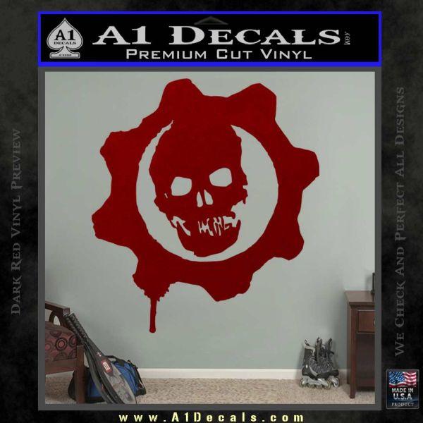 Gears of War Decal Sticker logo DRD Vinyl
