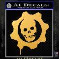 Gears of War Decal Sticker logo Gold Vinyl 120x120