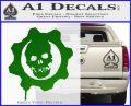 Gears of War Decal Sticker logo Green Vinyl Logo 120x97