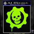 Gears of War Decal Sticker logo Lime Green Vinyl 120x120
