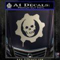 Gears of War Decal Sticker logo Metallic Silver Emblem 120x120