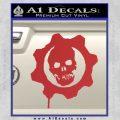 Gears of War Decal Sticker logo Red 120x120