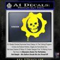 Gears of War Decal Sticker logo Yellow Laptop 120x120