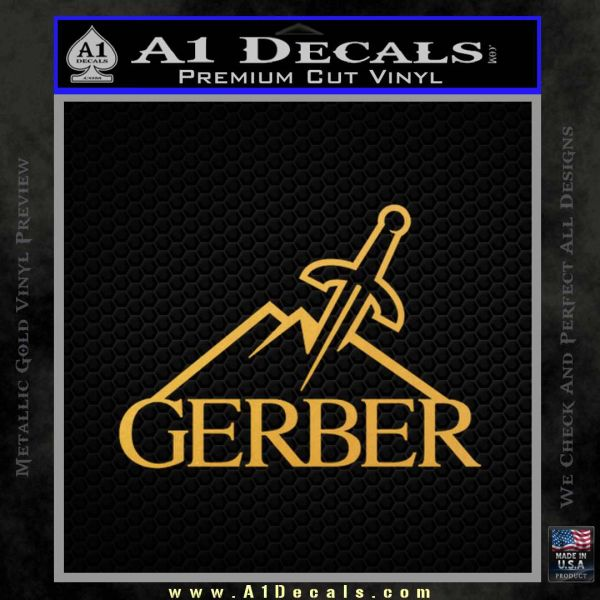 Gerber Knives Decal Sticker Full Gold Vinyl