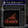 Gerber Knives Decal Sticker Full Orange Emblem 120x120