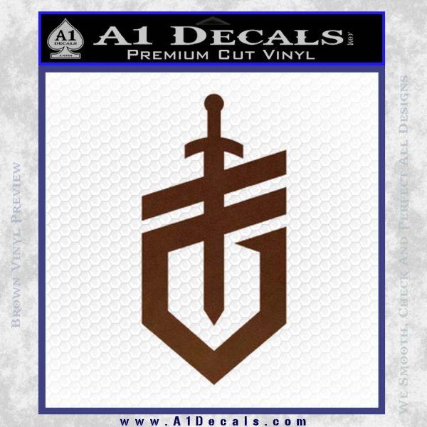 Gerber Knives Decal Sticker New Shield BROWN Vinyl