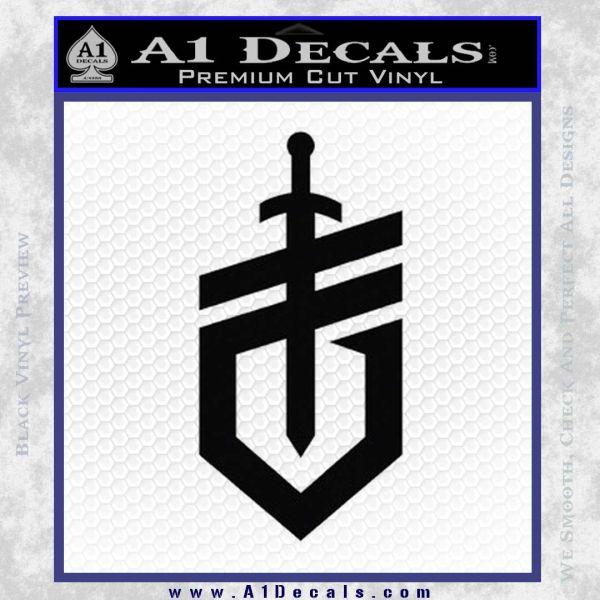Gerber Knives Decal Sticker New Shield Black Vinyl