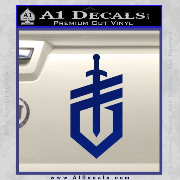 Gerber Knives Decal Sticker New Shield Blue Vinyl