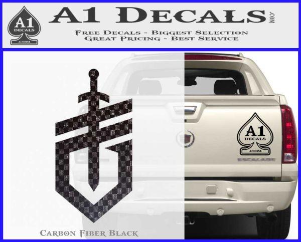 Gerber Knives Decal Sticker New Shield Carbon FIber Black Vinyl