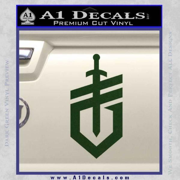Gerber Knives Decal Sticker New Shield Dark Green Vinyl