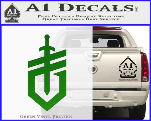 Gerber Knives Decal Sticker New Shield Green Vinyl Logo