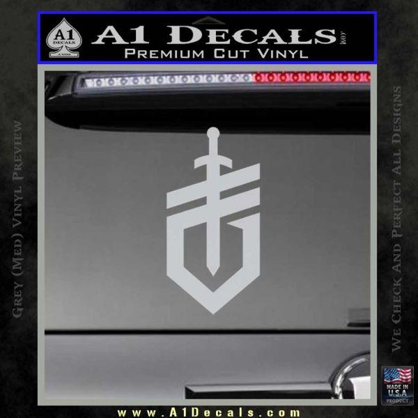 Gerber Knives Decal Sticker New Shield Grey Bumper