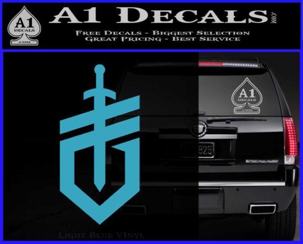 Gerber Knives Decal Sticker New Shield Light Blue Vinyl