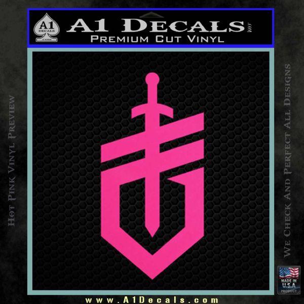 Gerber Knives Decal Sticker New Shield Pink Hot Vinyl