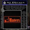 Haters Middle Finger Facebook Decal Sticker Orange Emblem 120x120