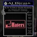 Haters Middle Finger Facebook Decal Sticker Pink Emblem 120x120